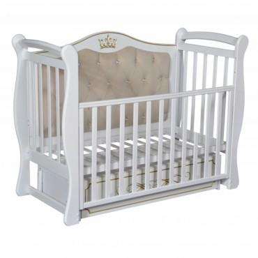 Кровать детская Антел Джулия 111 с мягкой стенкой, белый