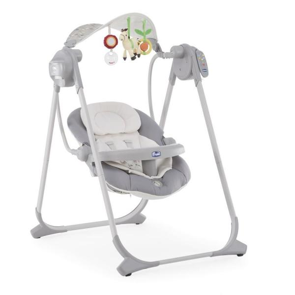 Кресло-качалка Chicco Polly Swing Up Silver
