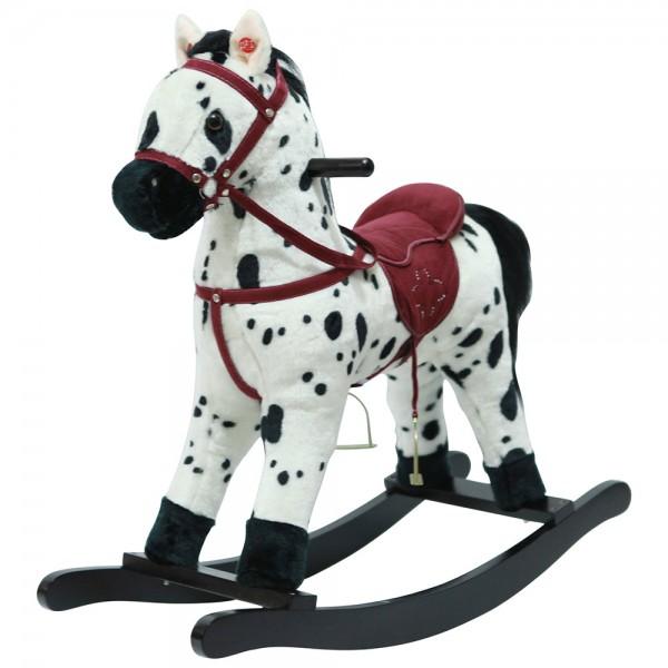 Качалка-лошадка Pituso, Белый с черными пятнами