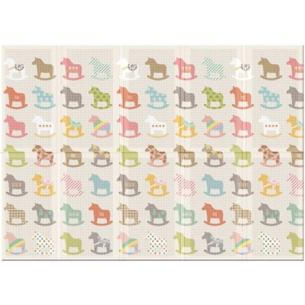 Термо коврик складной Parklon Portable Деревянные лошадки, 140x200x1 см