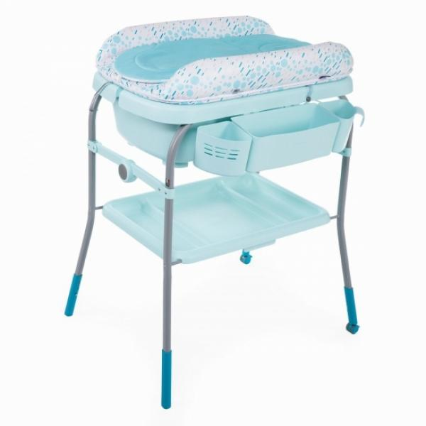 Столик для пеленания+ванночка Chicco Cuddle-Bubble Ocean