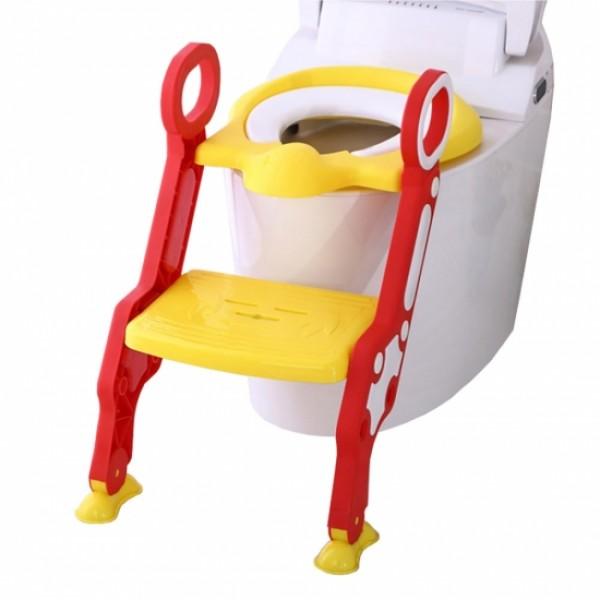 Pituso сиденье для унитаза с лесенкой и ручками, Желтый