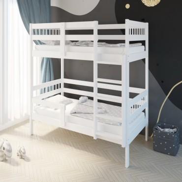 Кровать Подростковая двухъярусная Hanna 2 Белый